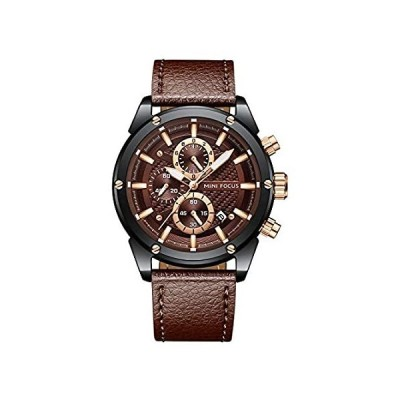Mens Luxury Watches Business Chronograph Sport Waterproof Leather Strap Ana