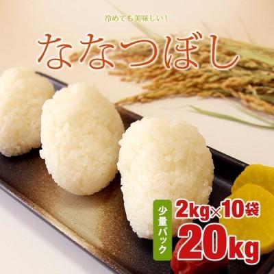 ななつぼし 2kg×10=20kg 令和2年 北海道産 脱酸素包装 10年連続!特A銘柄 米
