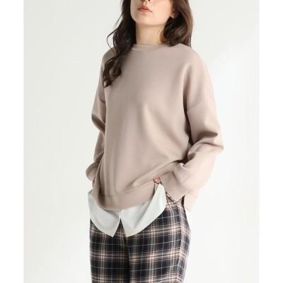 tシャツ Tシャツ 裾レイヤードプルオーバー