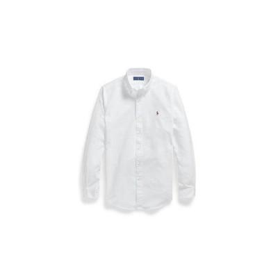 ポロラルフローレン POLO RALPH LAUREN カスタムフィット ボタンダウン オックスフォードシャツ (WHITE)
