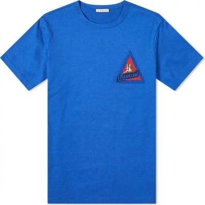 モンクレール Moncler メンズ Tシャツ ロゴTシャツ トップス Vintage Chest Logo Tee Blue