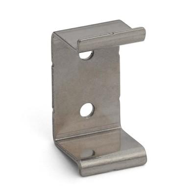 スガツネ工業 アルミ押出掘込ハンドル XLA-HHA型 用 PAT 板金用ブラケット 100-010-189 XLA-HHA40B | 板金用ブラケット ステンレス鋼 SUS430 バレル研磨