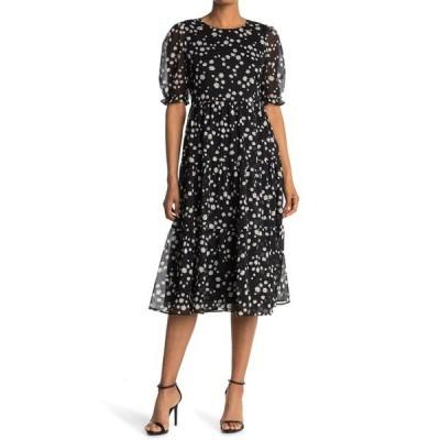 メロデイ レディース ワンピース トップス Short Sleeve Tiered Maxi Dress BLACK MULTI