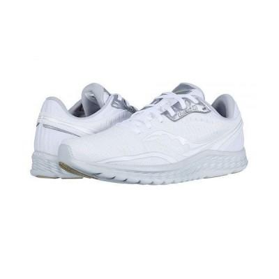 Saucony サッカニー メンズ 男性用 シューズ 靴 スニーカー 運動靴 Kinvara 11 - White/Grey