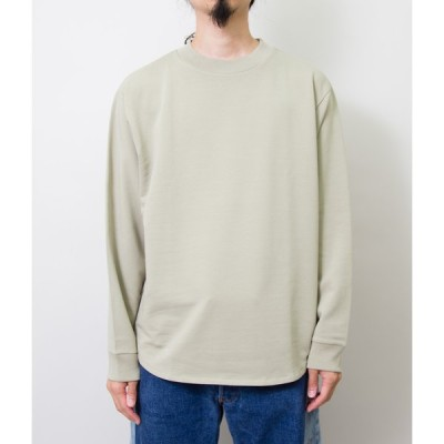 handvaerk ハンドバークflex crew neck l/s sweat(FROSTY GREEN)