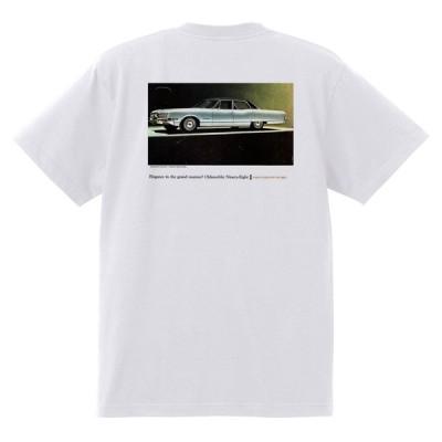 アドバタイジング オールズモビル 573 白 Tシャツ 黒地へ変更可能 1966 カトラス ビスタ トロネード 98 88 デルタ ホットロッド ローライダー