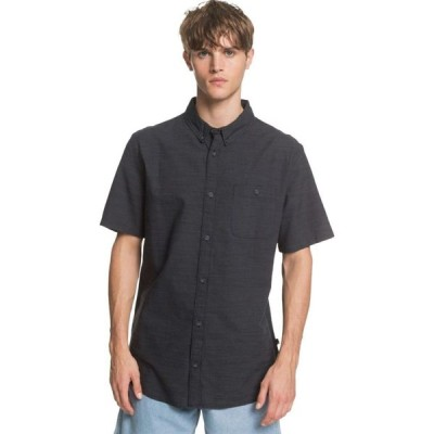 クイックシルバー Quiksilver メンズ 半袖シャツ トップス Firefall Short - Sleeve Shirt Black