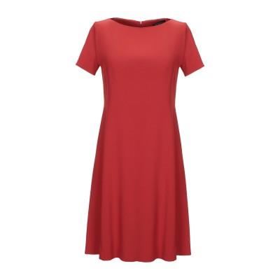 ANTONELLI ミニワンピース&ドレス 赤茶色 38 レーヨン 70% / アセテート 26% / ポリウレタン 4% ミニワンピース&ドレス