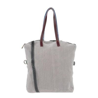 EBARRITO ハンドバッグ ホワイト 革 ハンドバッグ