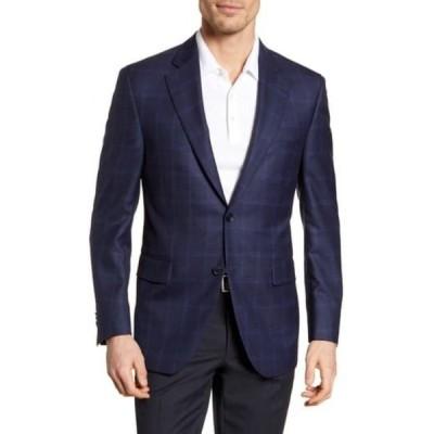 ピーター・ミラー メンズ ジャケット&ブルゾン アウター Classic Fit Windowpane Wool Sport Coat NAVY