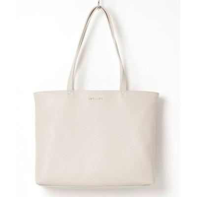 SHICATA / フェイクレザーシンプルA4トート WOMEN バッグ > トートバッグ