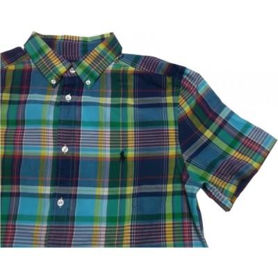 ポロ ラルフローレン ボーイズサイズ 半袖 ボタンダウンシャツ グリーン Polo Ralph Lauren boys 125