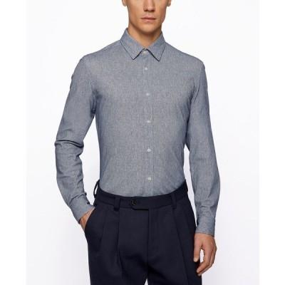 ヒューゴボス シャツ トップス メンズ BOSS Men's Lukas Regular-Fit Shirt Dark Blue