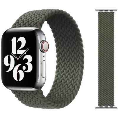 Apple watch バンド iwatch バンド ブレイデッドソロループ 編組バンド コンパチブル スポーツバンド 交換ベルト 柔らかいシリコーン