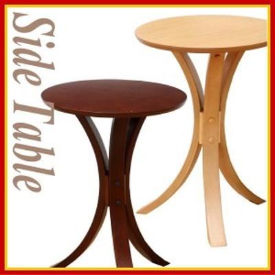 ICIBA 市場 丸型 木製サイドテーブル T-2379 飾り台 ソファサイド ベッドサイドテーブル 飾り台 オーク材 リビング
