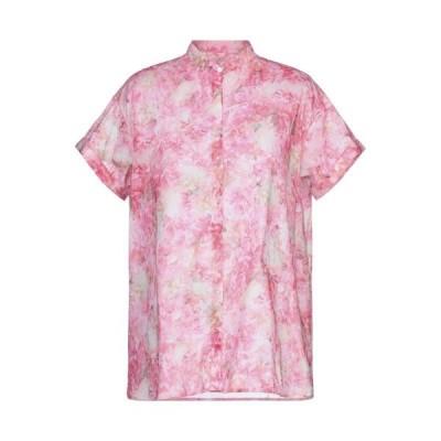 AND フローラル柄シャツ&ブラウス ファッション  レディースファッション  トップス  シャツ、ブラウス  長袖 ピンク