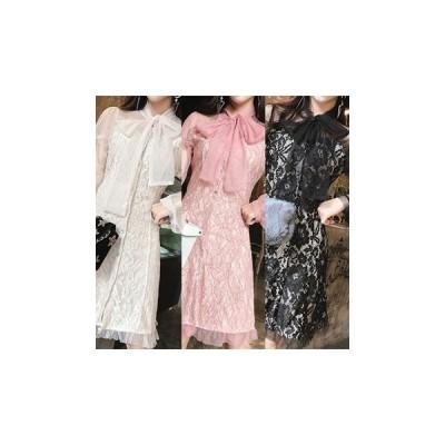 ドレス シースルー 長袖 ミニ セクシー エレガント 可愛い 大人 結婚式 二次会 fe-0983