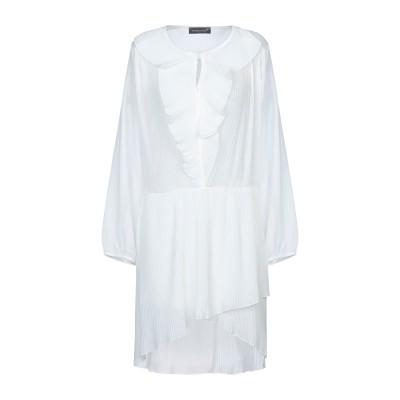 VANESSA SCOTT ミニワンピース&ドレス ホワイト S ポリエステル 100% ミニワンピース&ドレス