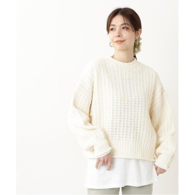 (N Natural Beauty Basic/エヌナチュラルビューティベーシック)バスケット編みボトルネックニット/レディース オフ