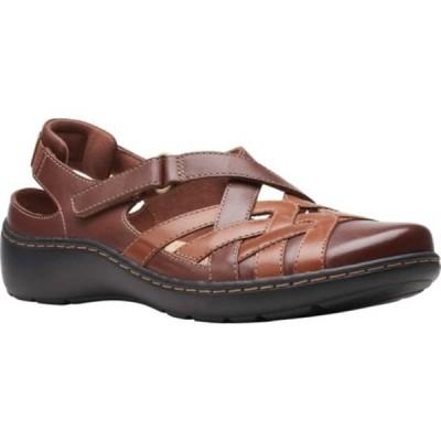 クラークス サンダル シューズ レディース Cora Dream Closed Toe Sandal (Women's) Tan Combination Leather