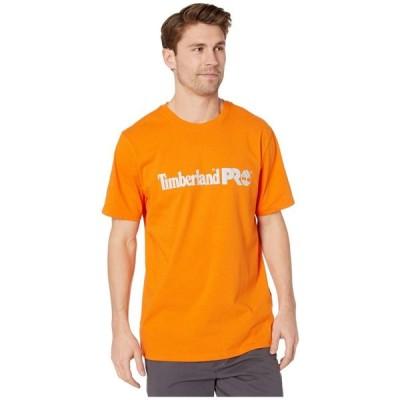 ティンバーランド Timberland PRO メンズ Tシャツ トップス Base Plate Short Sleeve T-Shirt with Logo Pro Orange