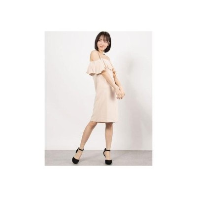 リネーム Rename フリルデザインワンピース(ピンク)