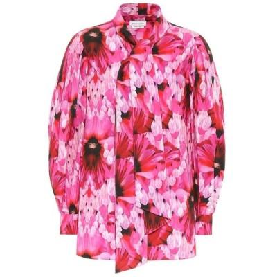 アレキサンダー マックイーン Alexander McQueen レディース ブラウス・シャツ トップス floral cotton shirt Orchid Pink