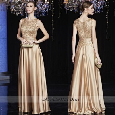 ロングドレス / 演奏会ドレス 大きいサイズあり パーティードレス ステージ衣装 / 大人シンプル ノースリーブ イーストビューティ