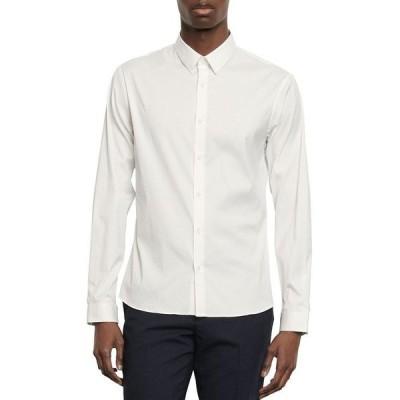 サンドロ メンズ シャツ トップス Seamless Stretch Slim Fit Button-Down Shirt