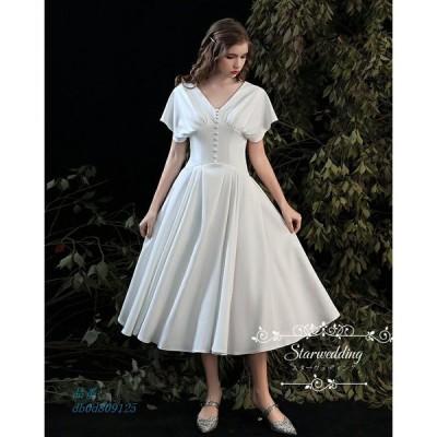 ウエディングドレス 演奏会 ドレス パーティードレス 二次会 ゲストドレス ブライダル 挙式 ワンピース 袖あり お呼ばれ コンサート 結婚式 ロングドレス