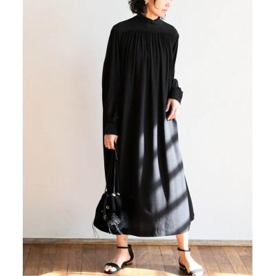 レディース アルディーノアール タートルネックヨーク ギャザー2WAYドレス ブラック フリー
