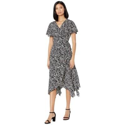 アメリカンローズ レディース ワンピース トップス Norah Short Sleeve Printed Wrap Dress
