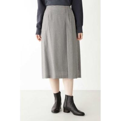 【ヒューマンウーマン】 ◆コットンレクセルビエラプリントスカート レディース グレー系3 M HUMAN WOMAN