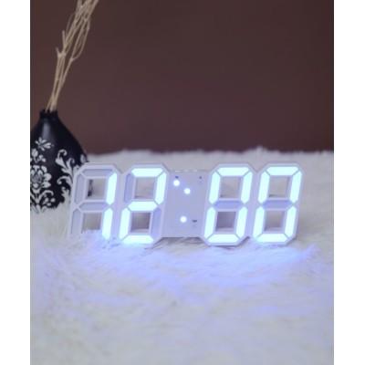 (ninon/ニノン)大画面卓上デジタルおしゃれ目覚まし時計/レディース ホワイト系2