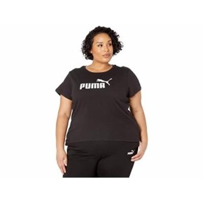 (取寄)プーマ レディース プラス サイズ エッセンシャル ロゴ ティー PUMA Women's Plus Size Essential Logo Tee Cotton Black
