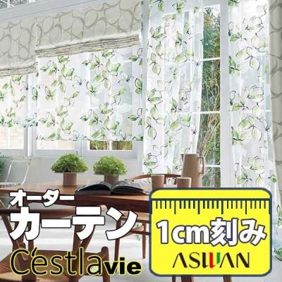 カーテン プレーンシェード アスワン セラヴィ C'estlavie Design Lace E7211 スタイリッシュウェーブ縫製 約1.5倍ヒダ