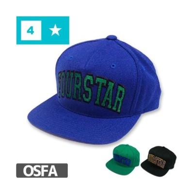 スケボー キャップ フォースター CAP FOUR STAR ARCHED SNAP BACK HAT 刺繍 3カラー NO26