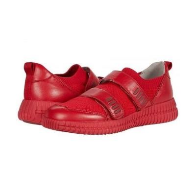 Geox ジオックス レディース 女性用 シューズ 靴 スニーカー 運動靴 Novae 1 - Red