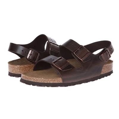ビルケンシュトック Milano - Leather Soft Footbed (Unisex) レディース サンダル Brown Amalfi Leather