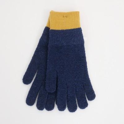 meri ja kuu   氷の浮き輪 手袋 (navy/mustard)   手袋