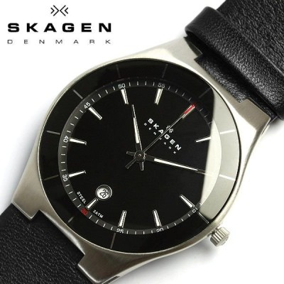 スカーゲン SKAGEN 腕時計 メンズ skw6039 革ベルト レザー ブラック ウォッチ