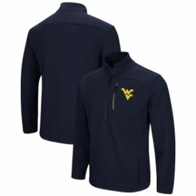 Colosseum コロセウム スポーツ用品  Colosseum West Virginia Mountaineers Navy Townie Half-Zip Pullover Jacket