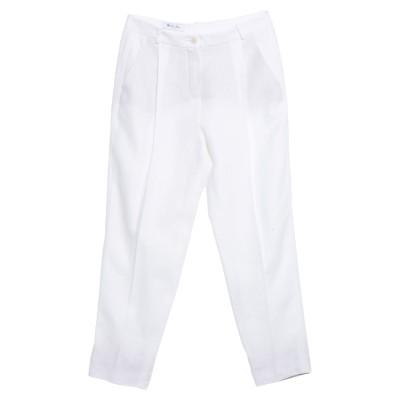 ロロ・ピアーナ LORO PIANA パンツ ホワイト 48 リネン 100% / シルク / ポリウレタン パンツ