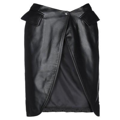 MM6 メゾン マルジェラ MM6 MAISON MARGIELA ひざ丈スカート ブラック 38 羊類革 100% / レーヨン ひざ丈スカート