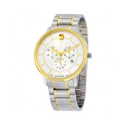 Movado/モバード メンズ 腕時計 Thin Classic クロノグラフ シルバー Soleil Dial Two-tone ステンレス鋼 メンズ Watch 0606887