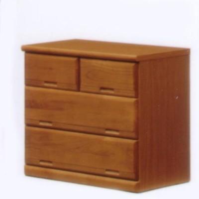 押入れタンス チェスト ローチェスト 幅75 3段 桐 キリ ナチュラル キャスター付き 北欧 モダン 木製 完成品