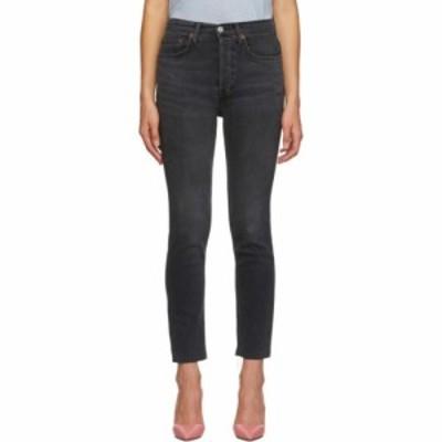 リダン Re/Done レディース ジーンズ・デニム ボトムス・パンツ black originals high rise jeans Dusty charcoal