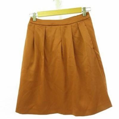 【中古】イッツデモ ITS'DEMO スカート ミニ オレンジ *A116 レディース