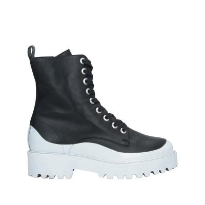 ヌメロ ヴェントゥーノ N°21 ショートブーツ ブラック 37 革 ショートブーツ
