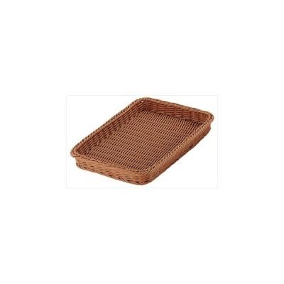 【まとめ買い10個セット品】PPベーカリーバスケット 角型ブラウン 36型 CO-708-BR